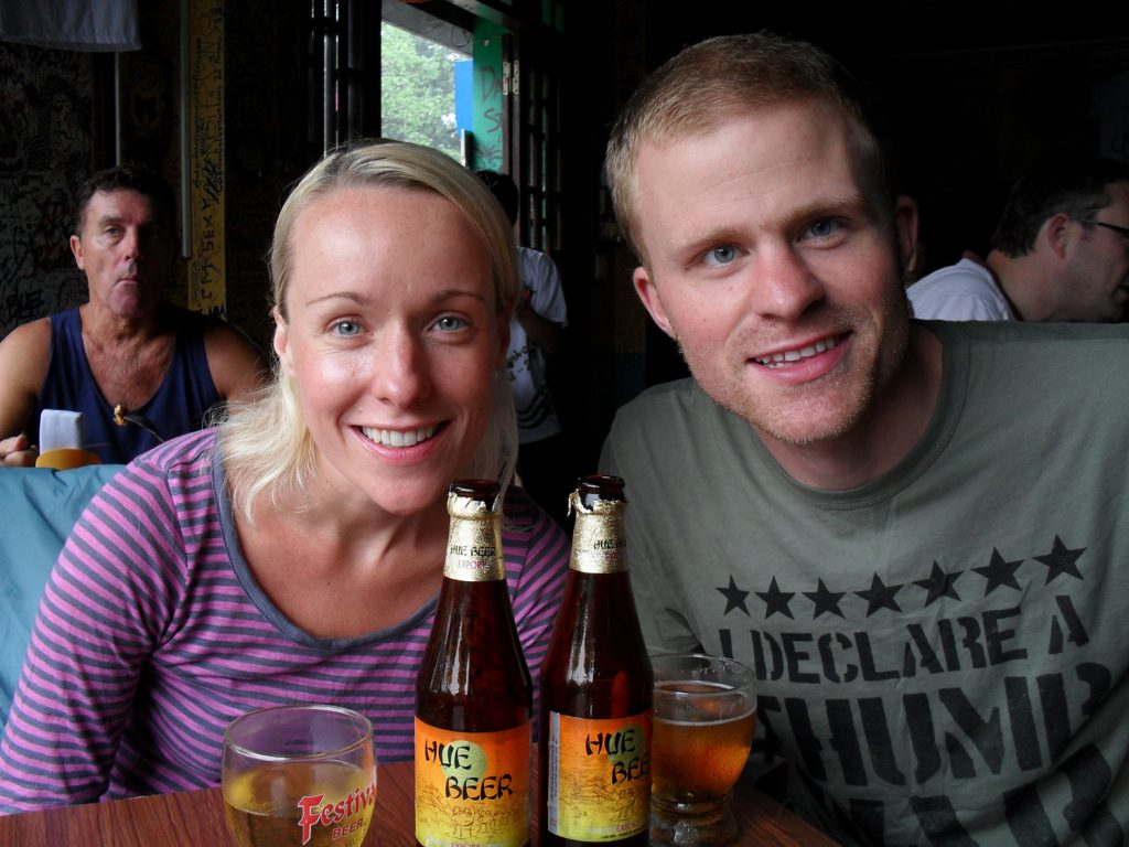 Steve and Mary - backpackers in Hue!