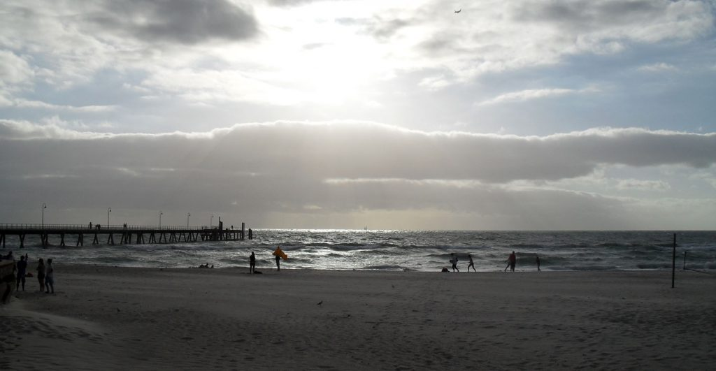 Glenelg Beach in Adelaide