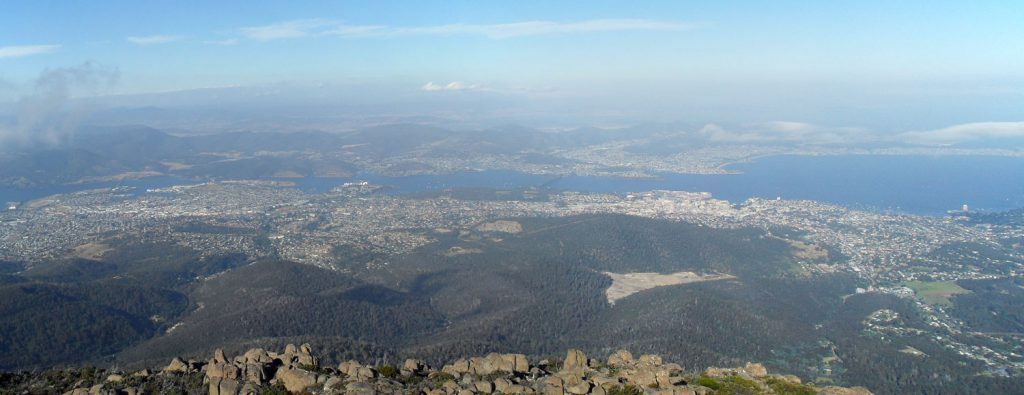The view from Mount Wellington