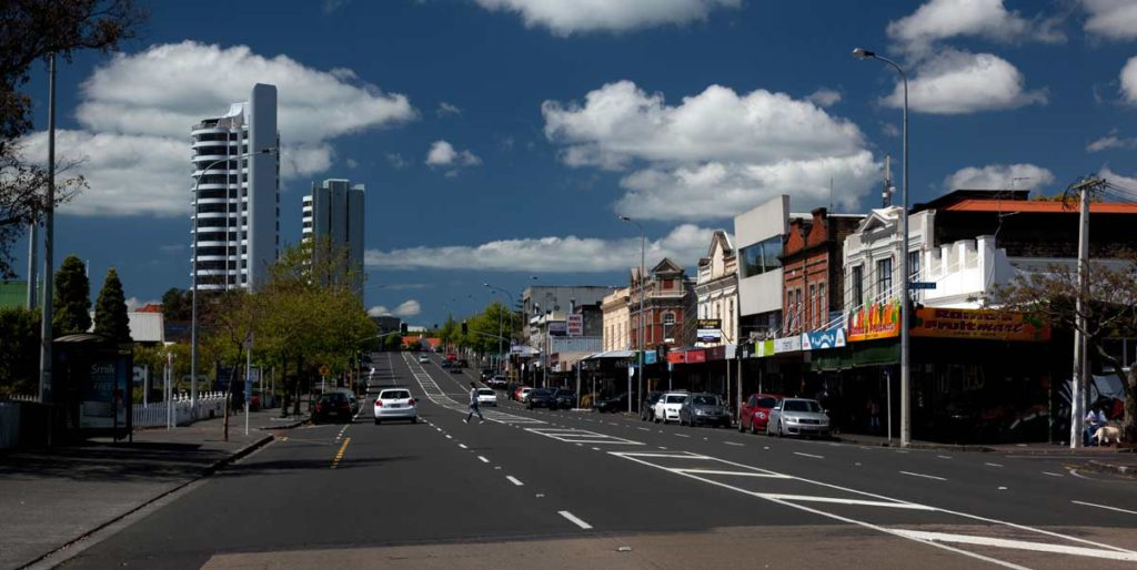A view down Jervos Road, Ponsonby