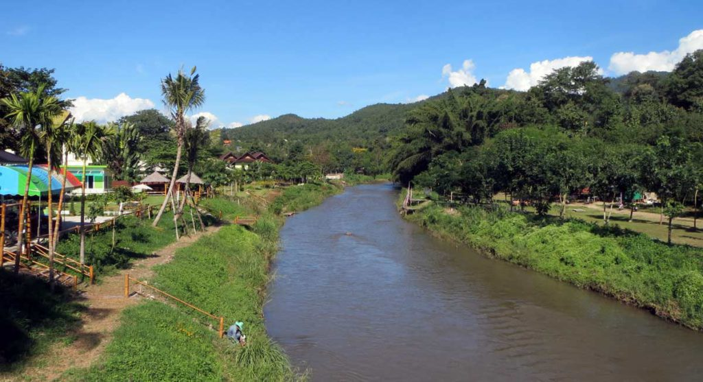 View down the river in Pai
